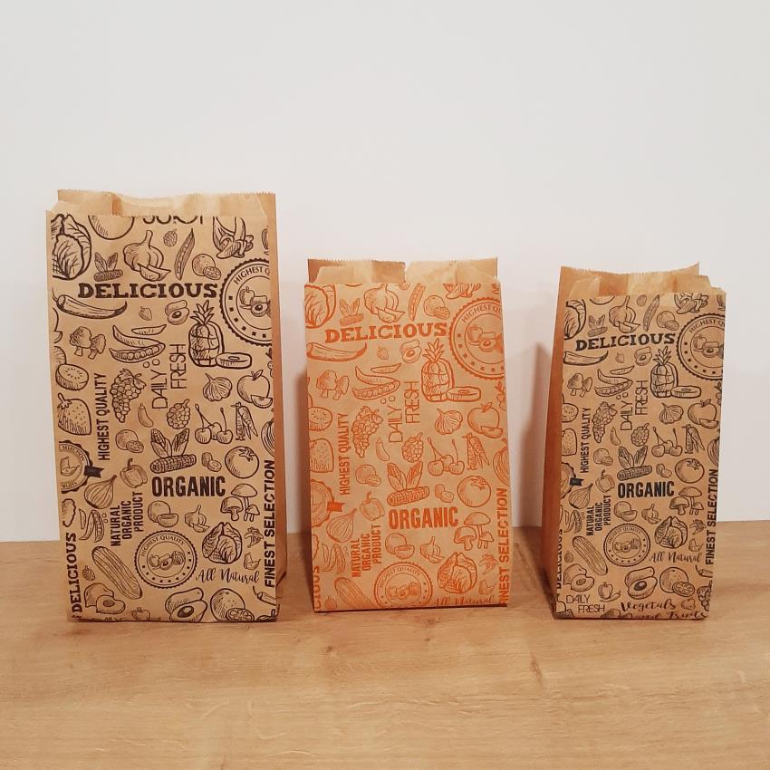 sachets en papier fruits legumes